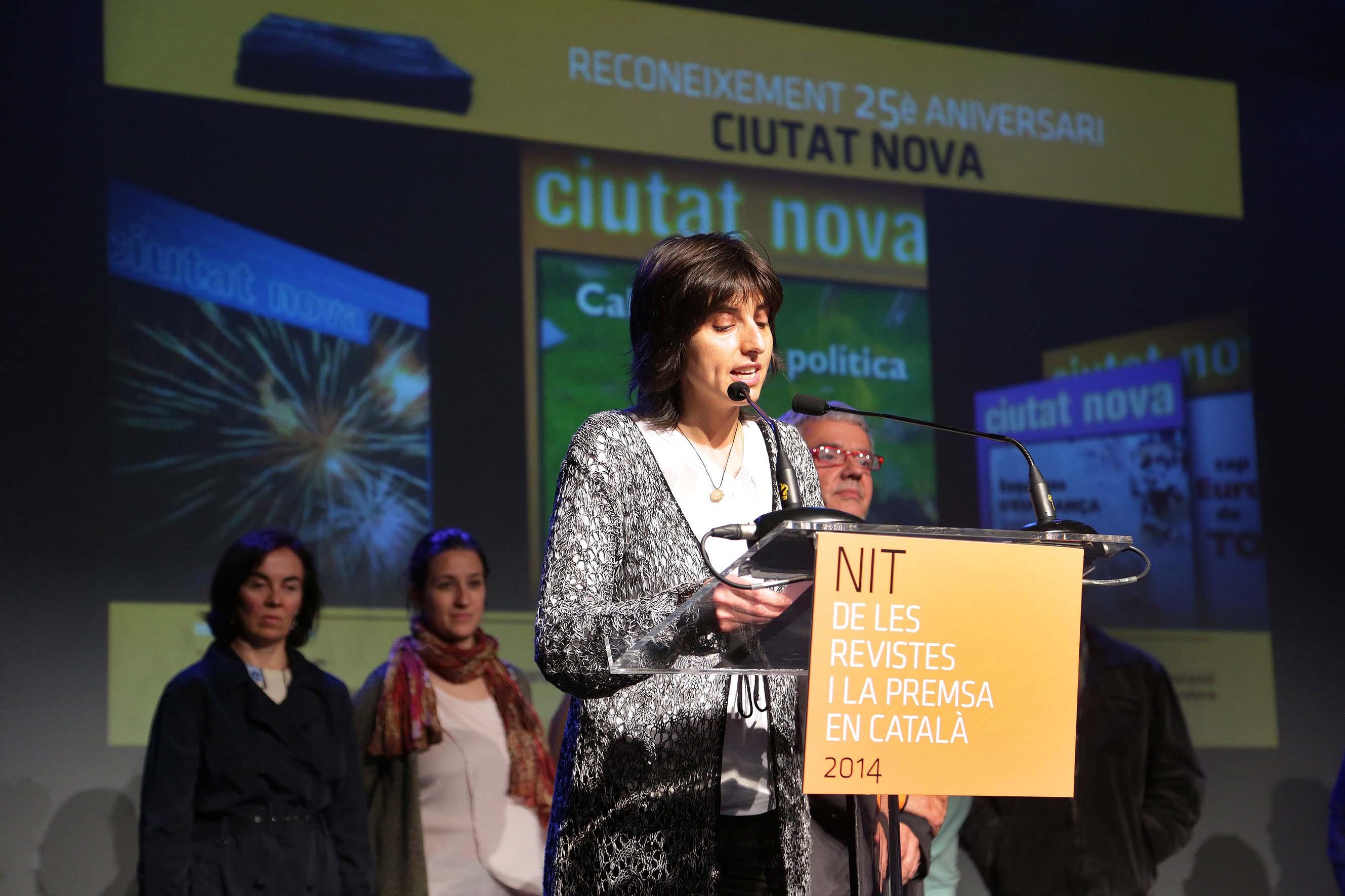Amparo Gómez agraeix el premi en nom de Ciutat Nova