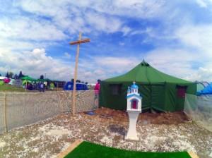 Petita església cristiana construïda per refugiats.